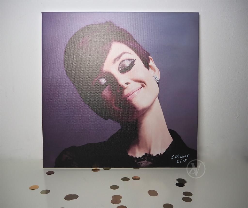 Audrey Hepburn Leinwandbild